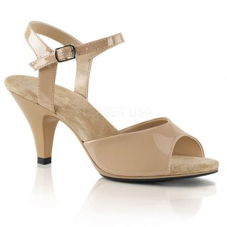 Sandales à bride coloris caramel belle-309
