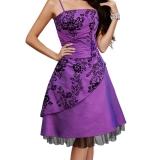 Robe à bretelles en satin violet