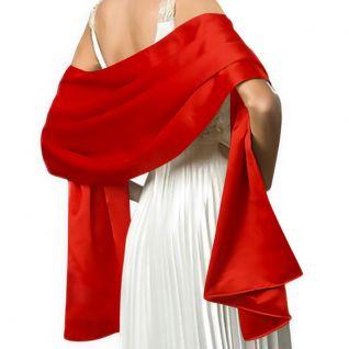Châle habillé en satin rouge