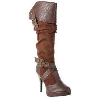 Bottes mousquetaires microfibre marron carribean-216
