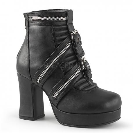 c2588d1a2f7 Porter des bottines gothiques en cuir noir à talon