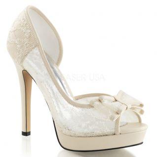 Sandale ivoire talon fin