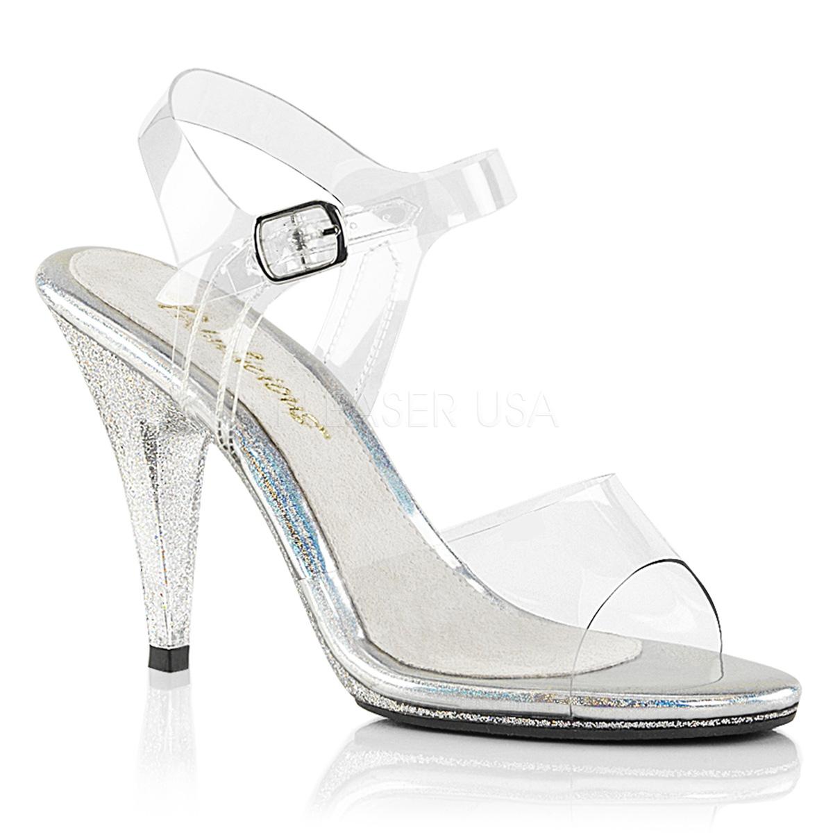 Sandales transparentes haut talon - Pointure : 40