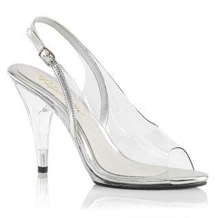 Sandales transparentes talon haut caress-450