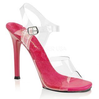 Sandale fushia et transparent