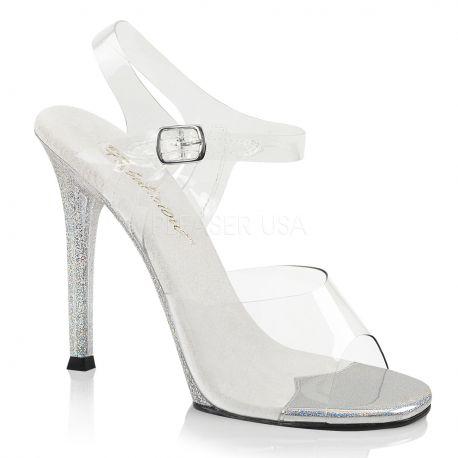 Sandales transparentes talon strass gala-08mg