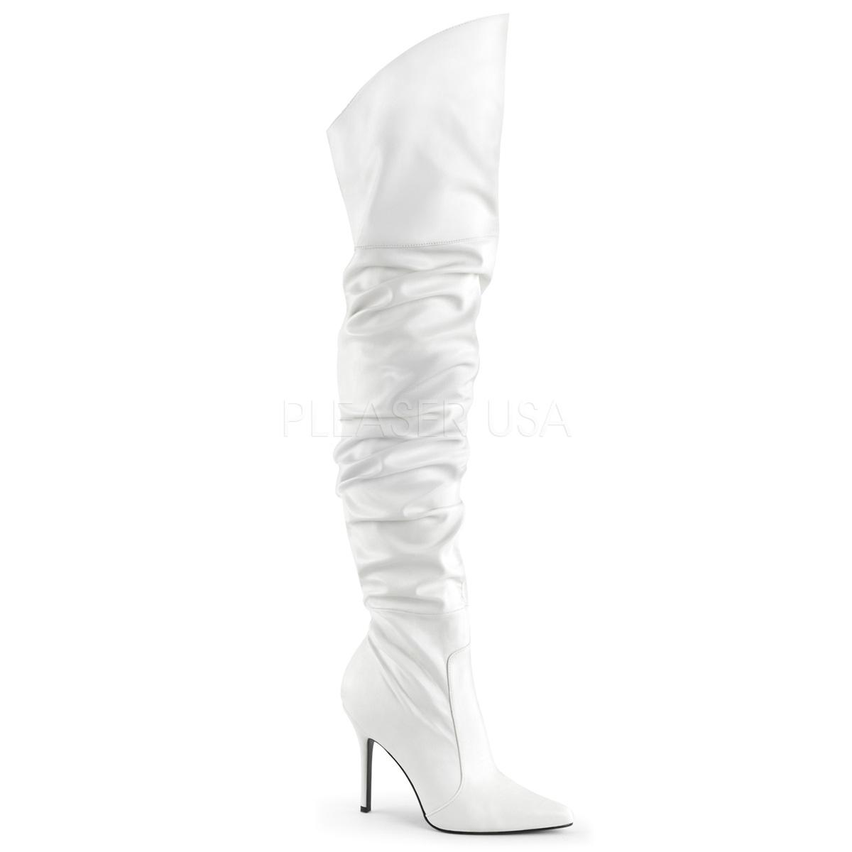 Cuissardes plissées blanches - Pointure : 37