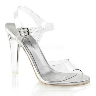 Sandales transparentes semelle argentée clearly-408