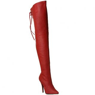 Cuissardes rouges en cuir legend-8899