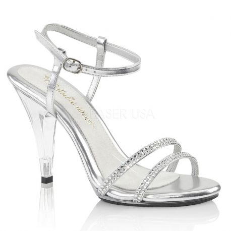 Sandales habillées strass argents caress-416