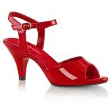 Sandales rouges vernies