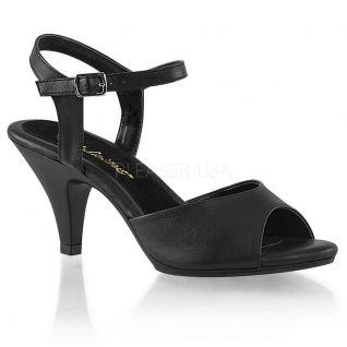 Sandales noires petit talon belle-309