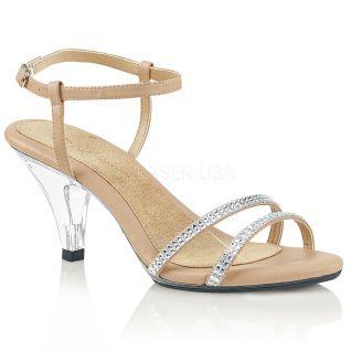 Sandales à strass petit talon belle-316