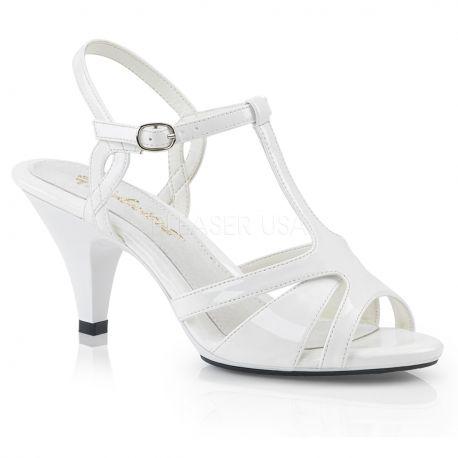 Nu-pieds sexy blanc vernis belle-322
