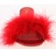 Pantoufle plume de cygne rouge