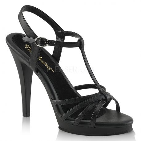 Sandales à brides coloris noir flair-420