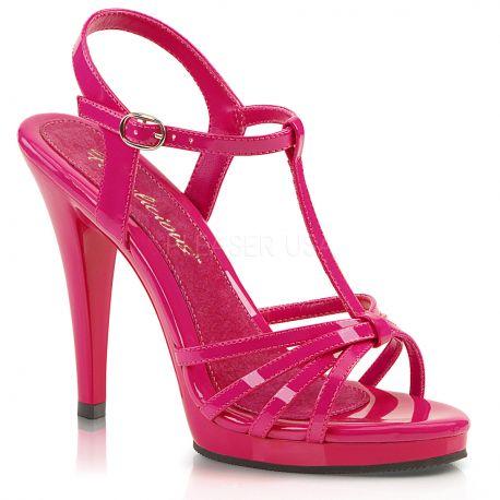 Sandales à brides coloris fushia flair-420