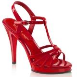 Nu-pieds rouges à brides