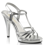 Sandales argentées à brides