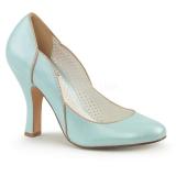 Escarpin bleu ciel style Pin Up