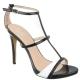 Sandales noires et blanches pas chères