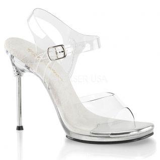 Sandales transparentes talon métal chic-08