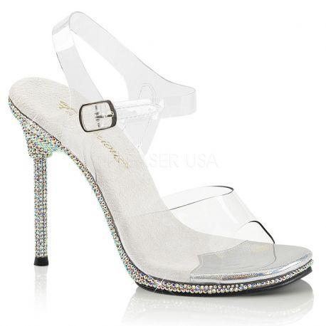 Sandales transparentes à strass chic-08dm