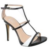 Sandales noires et blanches