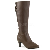 Botte marron petit talon