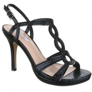 Chaussure d'été à lanière noire