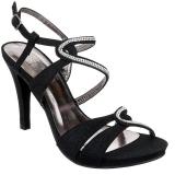 Nu-pieds noirs à strass