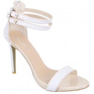 Nu-pieds blancs à brides pas chers