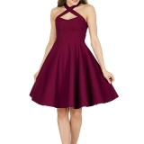 Robe bordeaux Pin Up