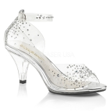 Sandales transparentes grande pointure