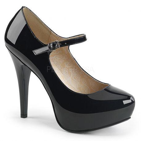 Vernis Taille Chaussures Escarpins Extrême Noirs LUzpGqMSV