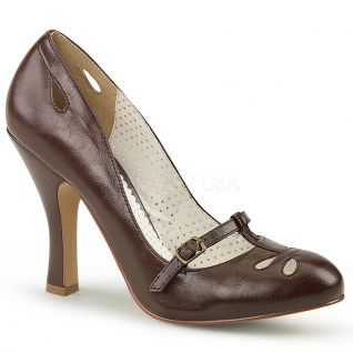 Escarpin Pin Up marron smitten-20