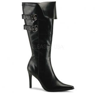 Bottes noires spéciales pieds larges pirate-125x