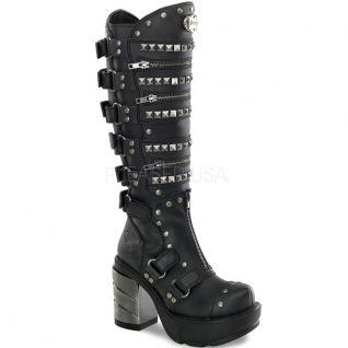 Bottes noires style gothique sinister-301