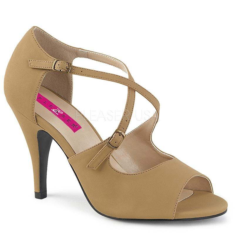 Sandales nubuck taupe - Pointure : 40