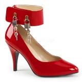 Escarpins rouges vernis à cadenas