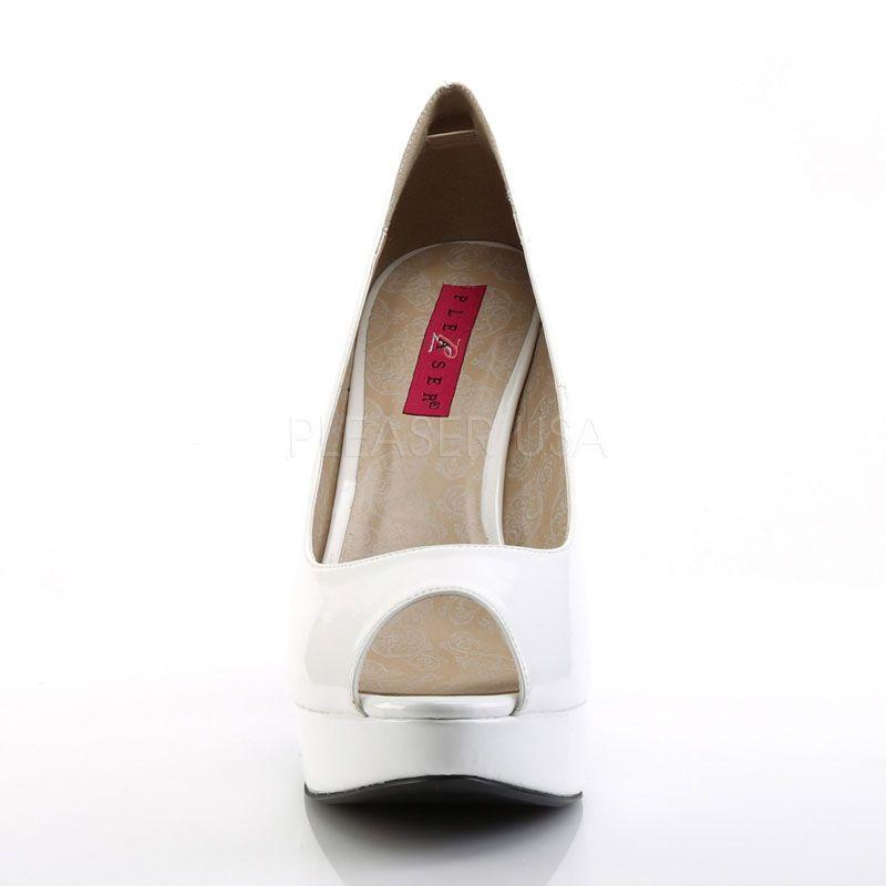 4611d485c3c9f5 Escarpins blancs vernis bout ouvert chloe-01 · Escarpins blancs vernis bout  ouvert · Escarpins blancs vernis grande taille · Escarpins blancs vernis  sexy ...