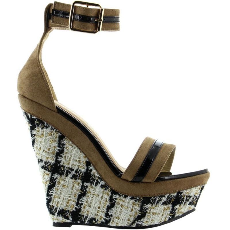 Acheter des chaussures d'été compensées françaises