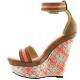 Chaussure haute couture d'été compensée