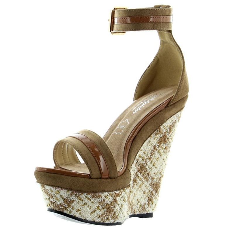 Chaussures Compensées En Des Cuir Acheter Marron kiOZuPXT