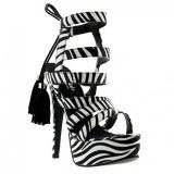 Sandales imitation zèbre