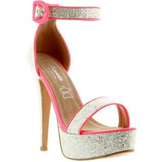 Sandales paillettes roses