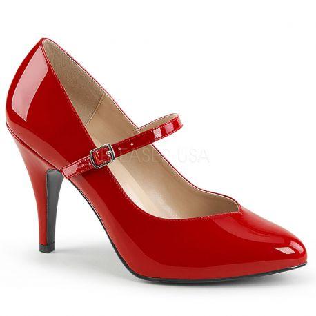 Escarpins d'Orsay rouge vernis dream-428