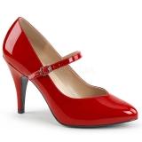 Escarpins rouge d'Orsay vernis talon haut