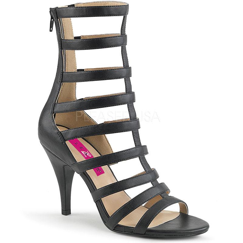 Sandales spartiates noires - Pointure : 48 - Pleaser Pink Label - Modalova