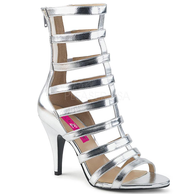 Nu-pieds spartiates argentés - Pointure : 48 - Pleaser Pink Label - Modalova